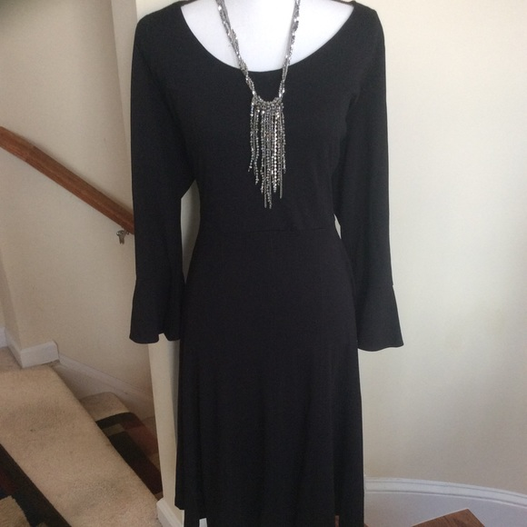 Eloquii Dresses & Skirts - ELOQUII Black Dress with Bell sleeves